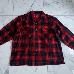Men's Vintage 1980 Pendleton Red Black Flannel